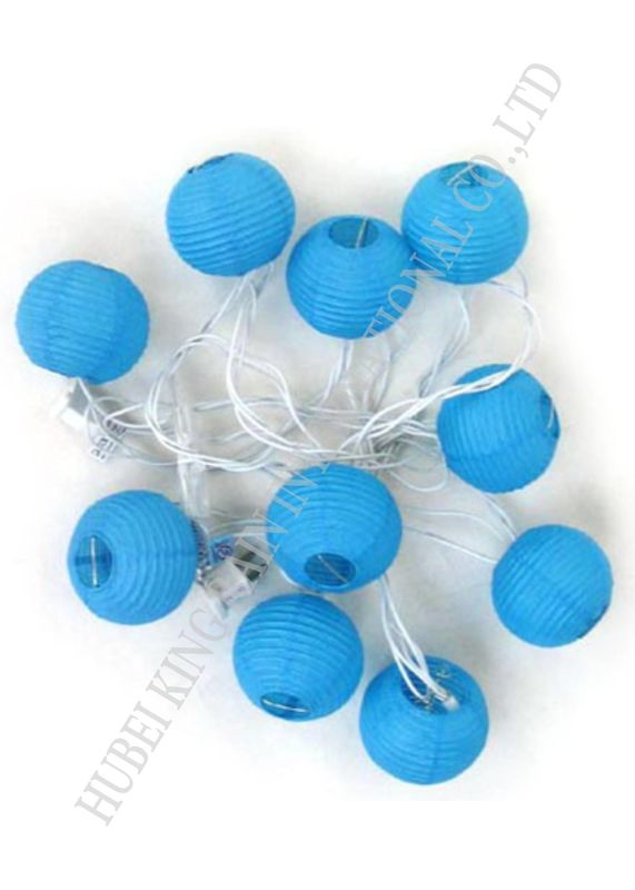 Romantic Round Paper Ball String Lights , Indoor Mini Lantern String Lights