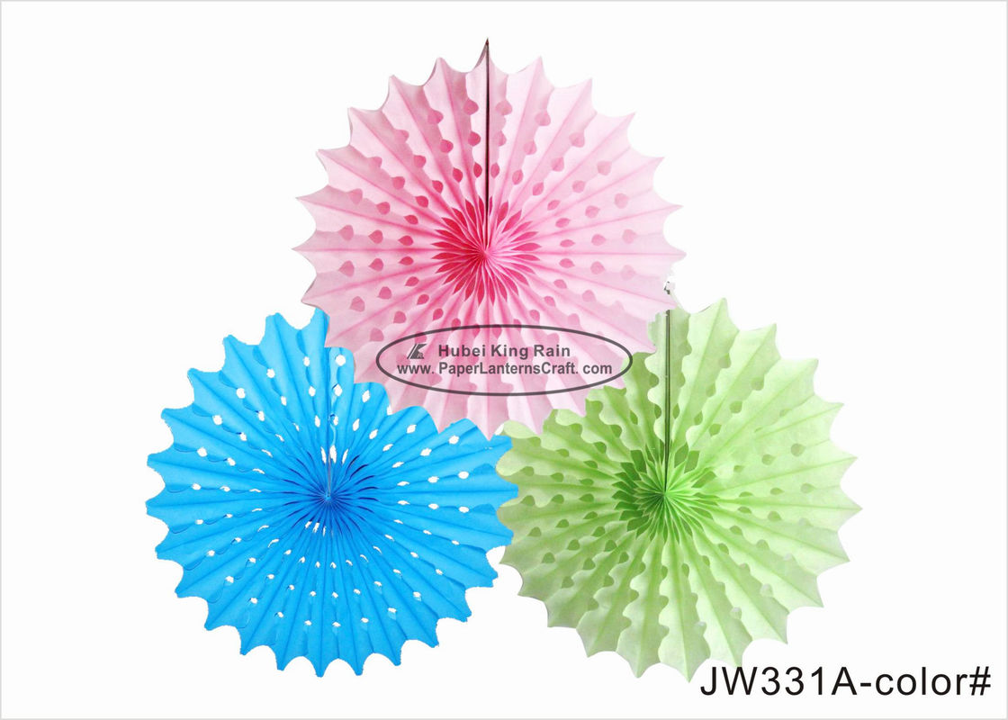 30cm 40cm Tissue Paper Fan Decorations Diy White Pink Blue Yellow For Party