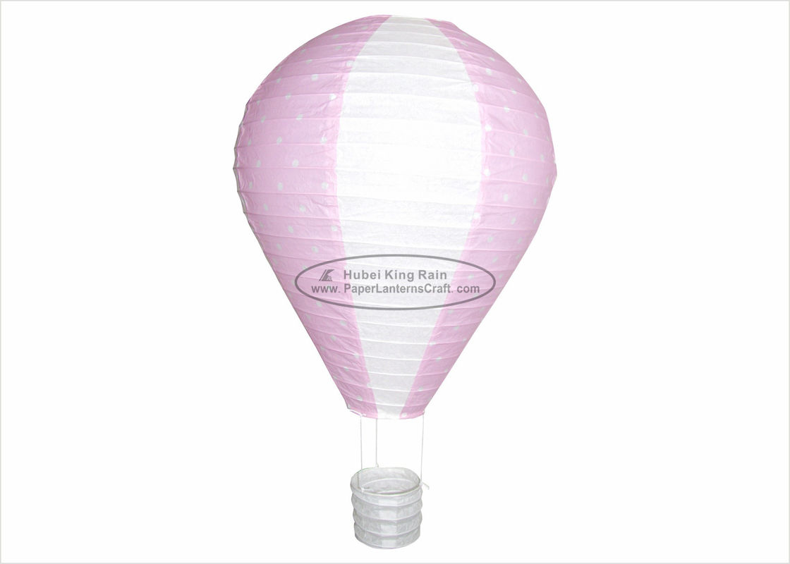 12 Inch Hot Air Balloon Paper Lantern With Dots For Party Flying Lamp