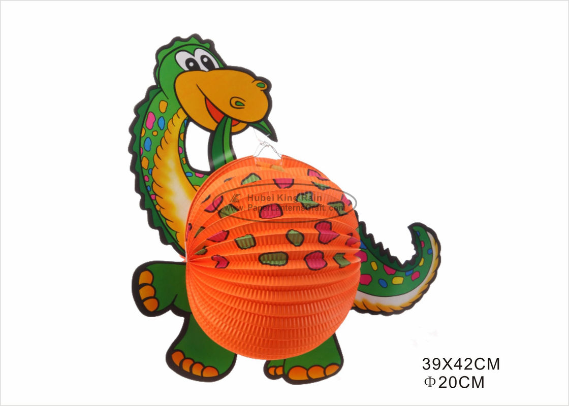 Portable Dinosaur Animal Shaped Paper Lanterns For Kids Toy Decoration