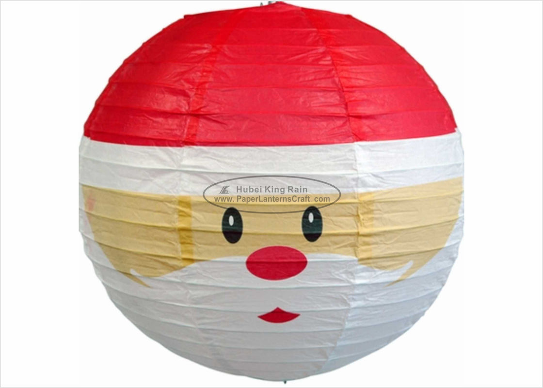 "12"" 14"" 16"" Paper Christmas Decorations Round Snowman Christmas Lantern"