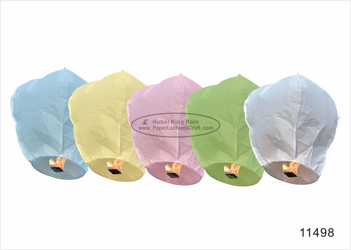 Custom Printed Fly Sky Lantern , Foldable Flying Paper Lanterns 40x100cm