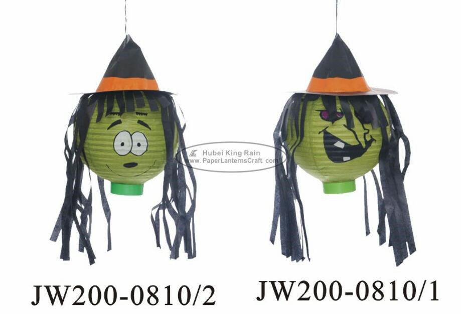 20 Cm Witch Hat Paper Halloween Decorations Battery Operated For Festival