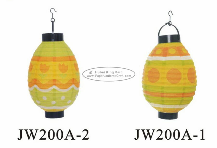 Colorful Rice Paper Easter Decorations / Easter Lantern Decorations For Outdoor