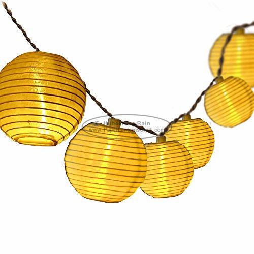 White solid color Paper Lantern String Lights led indoor decoration birthday wedding party