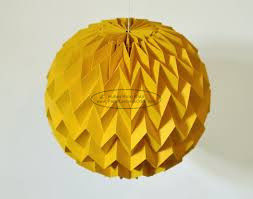 Gold Origami Cover Paper Lantern Ball 40cm Window Shop Decorations Party Festival