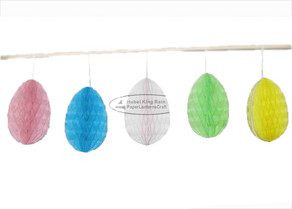 15cm Mini Hanging Paper Honeycomb Ball For Home Easter Party Decoration