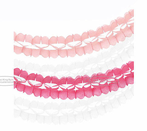 Handmade Party Paper Garland Craft 3.6m Tassel Garland Solid Color And Mixed Color