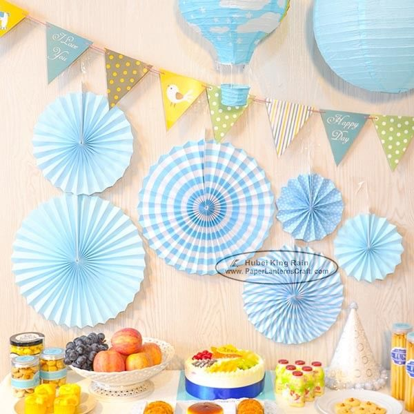 Candy Color Paper Fan Suit  Wedding Dessert Table Decorations